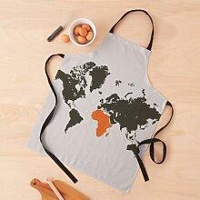 carte du monde, Afrique Tablier