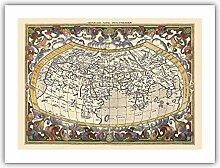 Carte du Monde Ancien - Basé sur des écrits de
