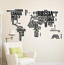 Carte Du Monde Avec Le Nom Anglais Des Pays