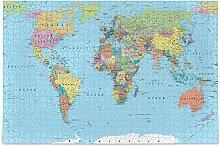 Carte du monde bois puzzle jeu éducatif bricolage