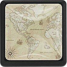carte du monde Boutons De Meuble Boutons De Tiroir