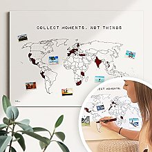 Carte du monde collect moments #1 - Durable &