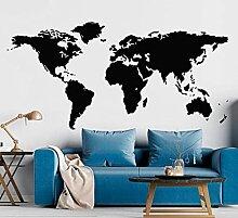 Carte du monde créatif Stickers muraux en vinyle
