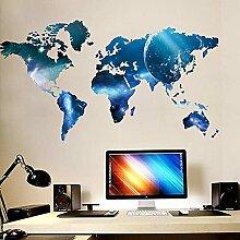 Carte du monde créative Planet Stickers muraux
