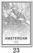 Carte du Monde De La Ville Noir Et Blanc