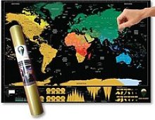 Carte du monde de luxe à gratter de voyage