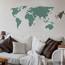 Carte du monde décor maison pochoir peinture
