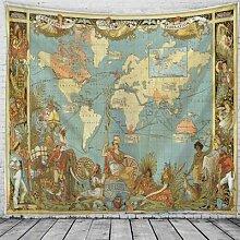 Carte du monde décoration Antique, tapisserie