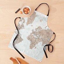 Carte du monde détaillée aquarelle Calista