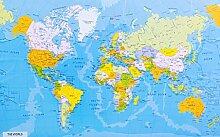 Carte du monde détaillée avec noms des pays et