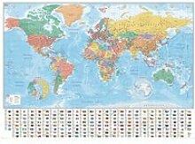 Carte du Monde - Drapeau - Flags and Facts -
