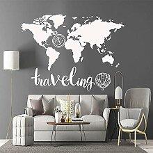 Carte du monde drôle vinyle cuisine stickers