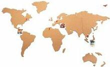 Carte du monde en liège Autres Beige