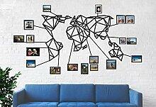 Carte du Monde en métal, Art Mural en métal,