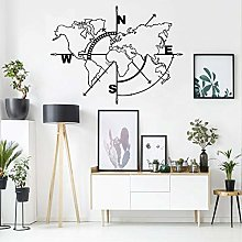 Carte du monde en métal - Décoration murale -