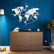 Carte du monde en métal – Décoration murale