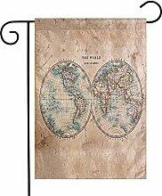 Carte du monde fleur tropicale Floral drapeau de