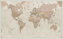 Carte du monde geante antique –