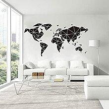 Carte Du Monde Géométrique Stickers Muraux