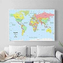 Carte du Monde HD Grandes Affiches Et Impressions