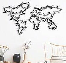 Carte du monde - Lierre (112 x 64 cm) Décoration