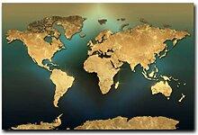Carte du monde minimaliste Art affiches et