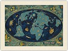 Carte du Monde - Monde Global Feuille De Route -
