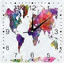 Carte du monde multicolore dessinée à la main -