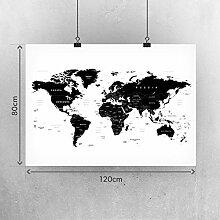 Carte du monde murale - Motif carte du monde XXL -