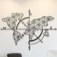Carte du monde - Noir (96 x 62 cm) Décoration