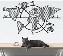 Carte du monde - Noir (99 x 57 cm) Décoration