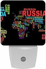Carte Du Monde Noir Russie Canada Imprimer Plug-In