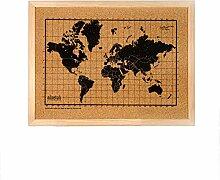 Carte du monde noire en liège - Carte du monde en