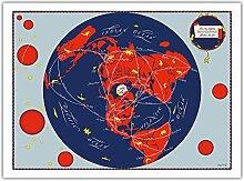 Carte du Monde - Nos Nouveaux voisins - Réseau