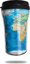 Carte du monde peinture voyage tasse à café