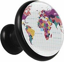 Carte du monde Poignées d'armoire de cuisine