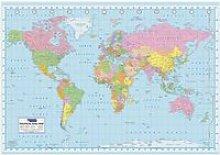 Carte du Monde  - Political Map - 100x140cm -