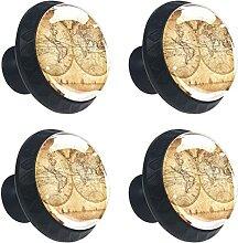 Carte du monde rétro antique