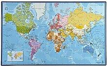 Carte du Monde - Sous Main Rigide / Avec Pays et
