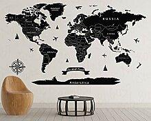 Carte du monde standard nom du pays noir monde