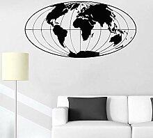 Carte Du Monde Sticker Bureau Décor Planète