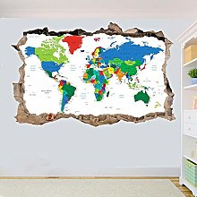 Carte du monde Stickers muraux affiches