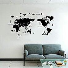 Carte du monde Stickers muraux carte rétro