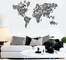 Carte du monde stickers muraux carte stickers
