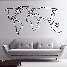 Carte du monde stickers muraux creative stickers