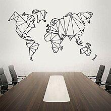 Carte du monde Stickers muraux Décoration de la