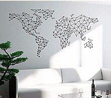 Carte du monde Stickers muraux Office Salon Salon