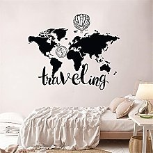 Carte du monde Stickers Muraux Voyage Creative