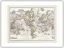 Carte du Monde - sur la Projection de Mercator -