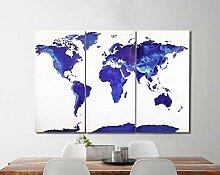 Carte du Monde sur Toile – Carte du Monde –